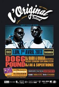 Tha Dogg Pound en clôture de L'Original Festival à Lyon le lundi 1er avril 2013