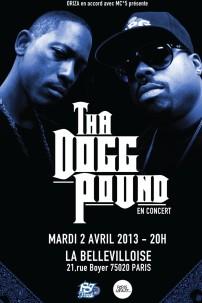 Tha Dogg Pound en concert à Paris le mardi 2 avril 2013