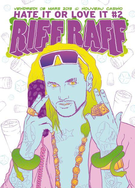 3 x 2 places à gagner pour le concert de Riff Raff au Nouveau Casino vendredi 8 mars 2013