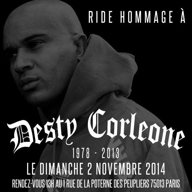Ride hommage Desty Corleone